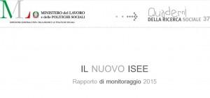 Isee, il rapporto pubblicato sul sito del Ministero del Lavoro