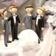 Vladimir Luxuria sfila in abito da sposa a Bolognafiere03