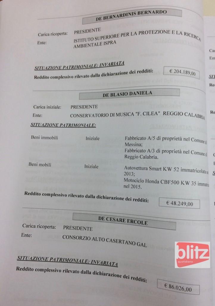 Redditi dei manager pubblici, l'elenco: da Dal Corso a Gurioli (D-E-F-G) Supplemento al Bollettino 2015 24