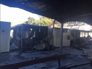 Migranti danno fuoco a centro Ue a Lesbo: protesta per le domande di asilo