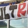 Alberto Sordi vigile, striscione all'Olimpico di Roma2