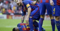 VIDEO YOUTUBE Neymar colpito da bottigliata tifosi Valencia. Messi furioso