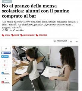 """Scuola, panino vs mensa: la guerra continua. A Mantova è questione di """"gusto"""""""