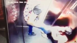 VIDEO YOUTUBE Calciatore prende a calci e pugni la moglie: filmato in ascensore