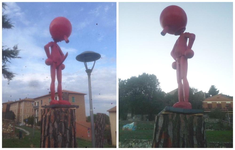 """Pinocchio """"superdotato"""": statua fa scandalo, lo fanno evirare"""