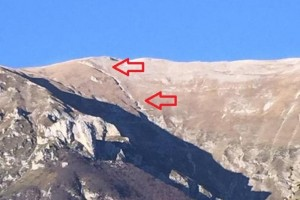 Terremoto, frattura lunga centinaia metri su monte Redentore