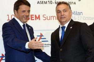 Guarda la versione ingrandita di Orban-Renzi, lite su migranti.