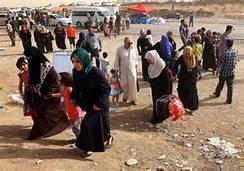 Rifugiati a Mosul
