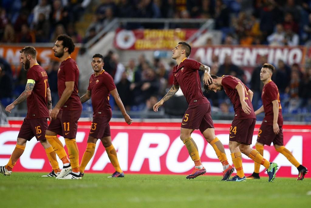 Roma - Palermo 4-1, foto Ansa