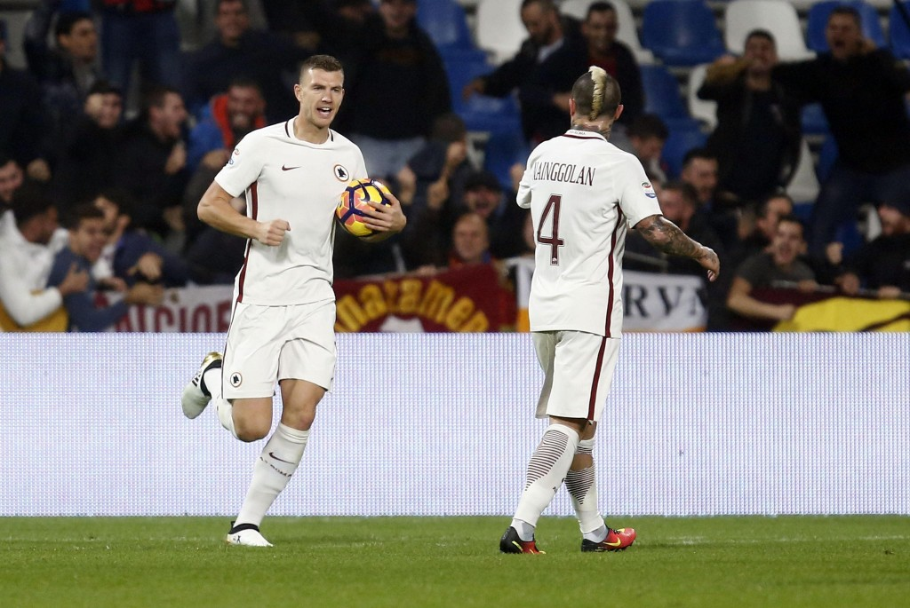 Sassuolo-Roma 1-3. Video gol highlights, foto e pagelle. Dzeko doppietta