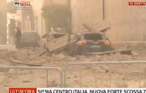 Norcia: VIDEO Sky Tg24 in diretta del terremoto