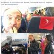 """Giacomo Stucchi (Lega), selfie in aereo con rom: """"Compagnia Vera low cost""""02"""
