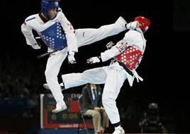 Un incontro di taekwondo