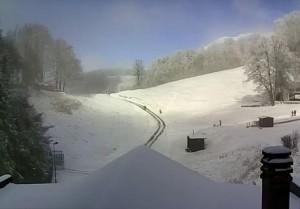 Meteo, neve sul Terminillo, vicino ad Amatrice e Accumoli