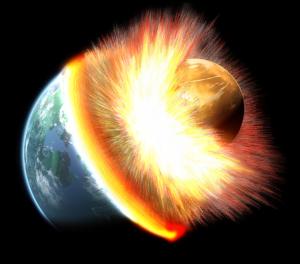 Guarda la versione ingrandita di Teoria del grande impatto: la Luna nata dallo scontro tra Terra e Theia