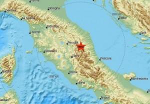 Terremoto Italia centrale: forte scossa magnitudo 5,4