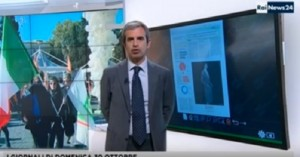Guarda la versione ingrandita di Terremoto in diretta a Rainews 24: giornalista impassibile