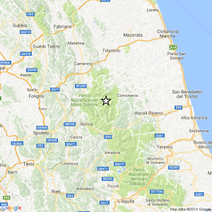 Guarda la versione ingrandita di Terremoti, serie di scosse vicino Ascoli: la più forte di magnitudo 3.6