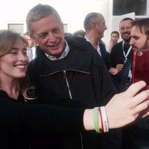 Cuperlo, selfie con la Boschi