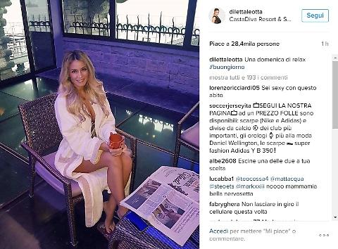 Diletta Leotta  in accappatoio alla spa su instagram (foto da Instagram)