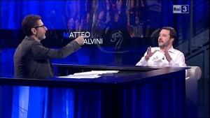 """Referendum, Matteo Salvini ospite da Fabio Fazio: """"Ho parlato senza essere interrotto..."""""""