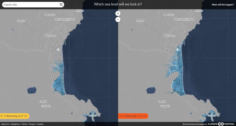 Clima, ecco come cambierebbe l' Italia con innalzamento dei mari 14