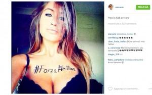 Elena Rizzello, la tifosa del Verona che spopola su Instagram 01