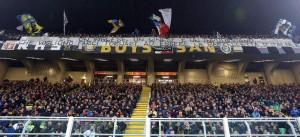 Guarda la versione ingrandita di Inter - Crotone, striscioni pro De Boer e contro calciatori e società (foto Ansa)