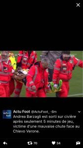 Chievo - Juventus, infortunio Barzagli (foto): esce in barella dopo infortunio al braccio