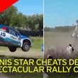 David Nalbandian, ex tennista si ribalta con la sua auto durante rally7