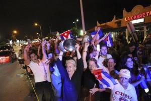 La festa a Little Havana (foto Ansa)