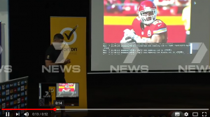 YOUTUBE Jarryd Hayne, mentre è in classe con gli studenti parte video...