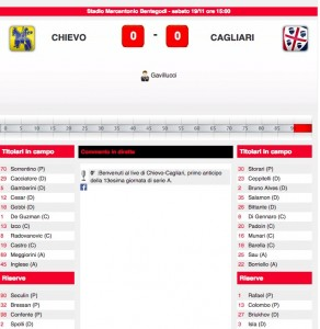 Chievo-Cagliari diretta live. Formazioni ufficiali in arrivo