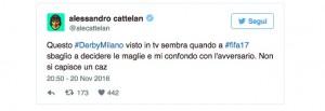Guarda la versione ingrandita di Derby di Milano con magliette quasi uguali: i tifosi di Milan e Inter protestano su Twitter