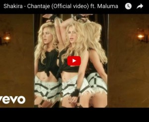 "YOUTUBE Shakira si strappa la maglia come Hulk nel video ""Chantaje"""
