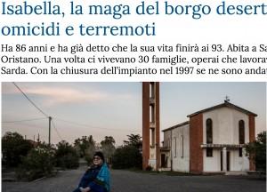 Isabella Flore, la maga del paese deserto prevede omicidi e terremoti