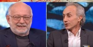YOUTUBE Marco Travaglio corretto da Vittorio Zucconi sulla costituzione americana