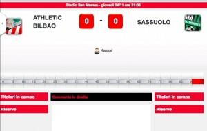 Guarda la versione ingrandita di Athletic Bilbao-Sassuolo