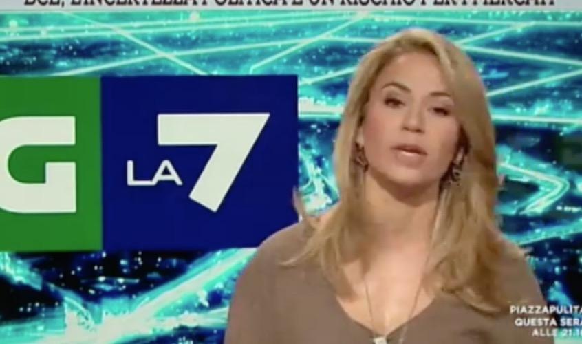 La7, la giornalista Cristina Fantoni cade in diretta Video
