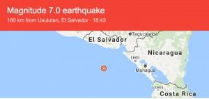 Guarda la versione ingrandita di Terremoto in Nicaragua: sisma di magnitudo 7.2. Si teme tsunami
