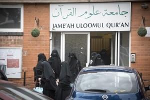 Studentesse col niqab a Leicester in Gran Bretagna