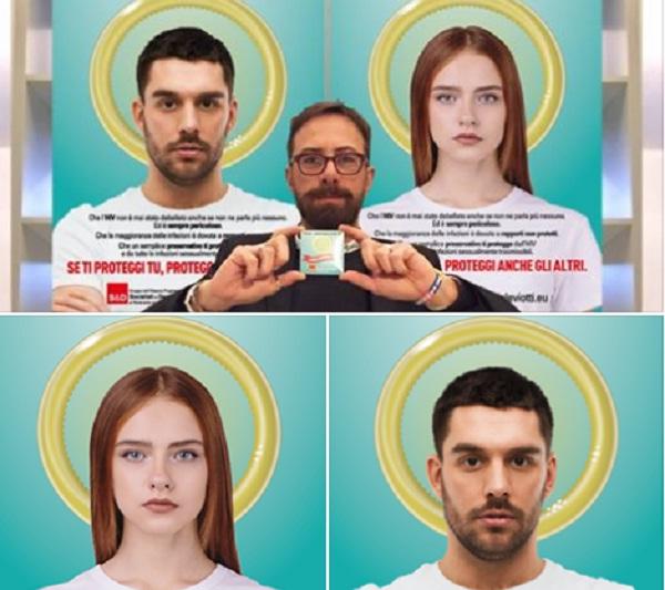 Preservativo come aureola: spot contro Aids fa discutere a Torino