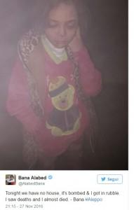 """Siria, l'ultimo tweet della bimba sotto le bombe: """"Non possiamo più restare vivi"""""""