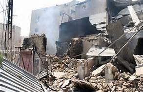 Distruzioni ad Aleppo
