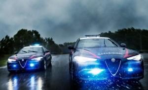 Alfa Romeo Giulia Quadrifoglio Carabinieri: le nuove FOTO in pista