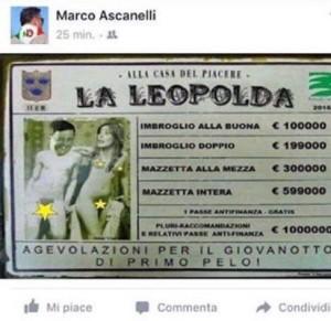 """""""Bordello Leopolda"""", volgare vignetta Anpi: se questa è """"resistenza"""""""