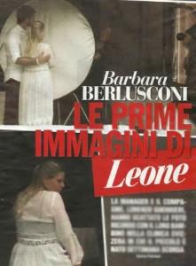Barbara Berlusconi in posa con il figlio Leone per una foto