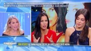 Barbara D'Urso contro Antonella Mosetti per Asia Nuccetelli. Lite a Pomeriggio 5