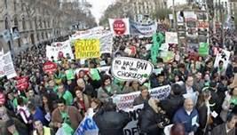 La manifestazione a Barcellona