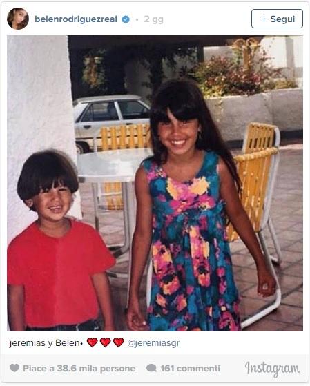 Belen Rodriguez da piccola con Jeremias